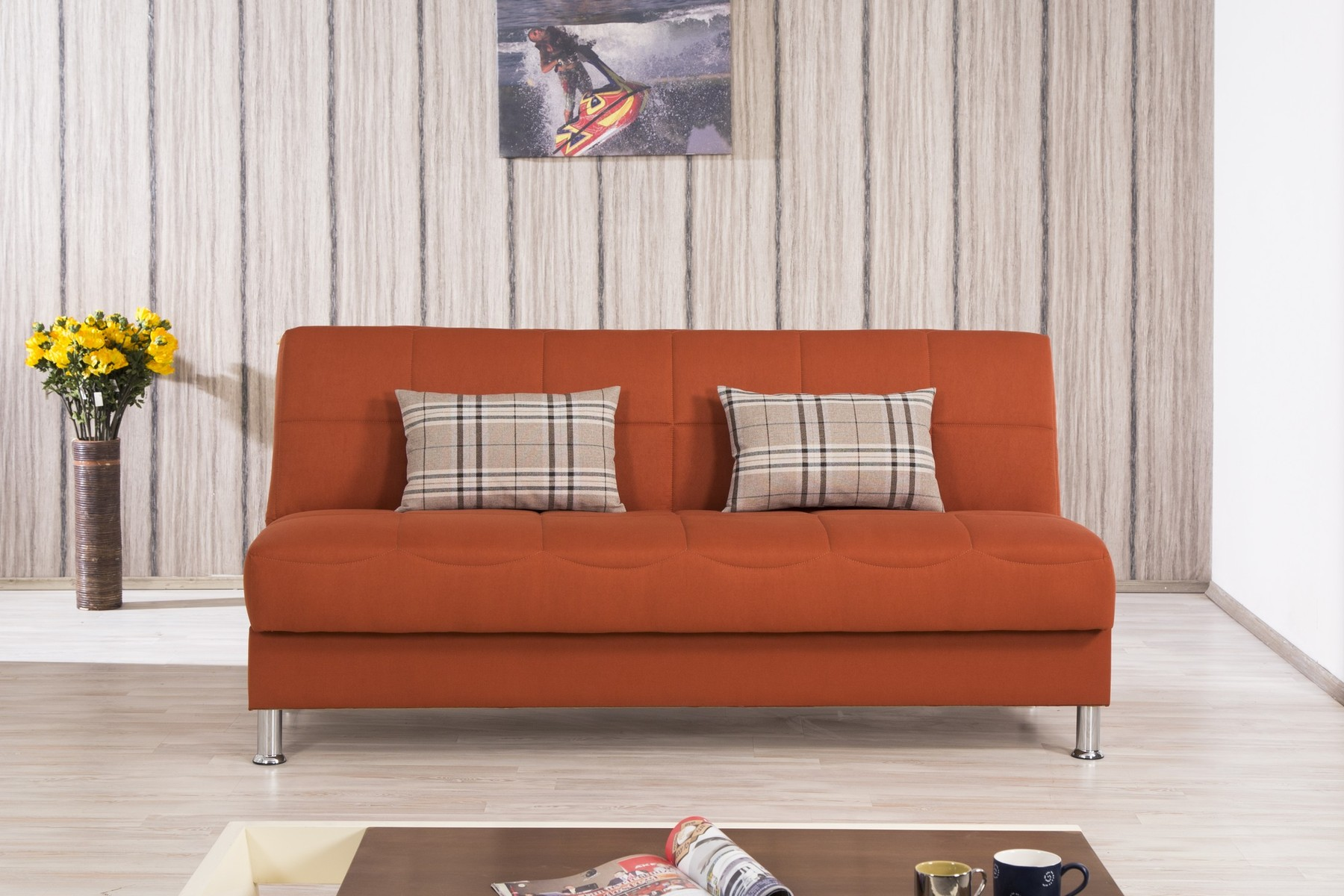 ashley furniture sofa sales fabric set for office eco plus orange convertible bed by casamode