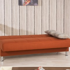 Newport Sofa Convertible Bed Chester Pullout With Storage Chaise Eco Plus Orange By Casamode