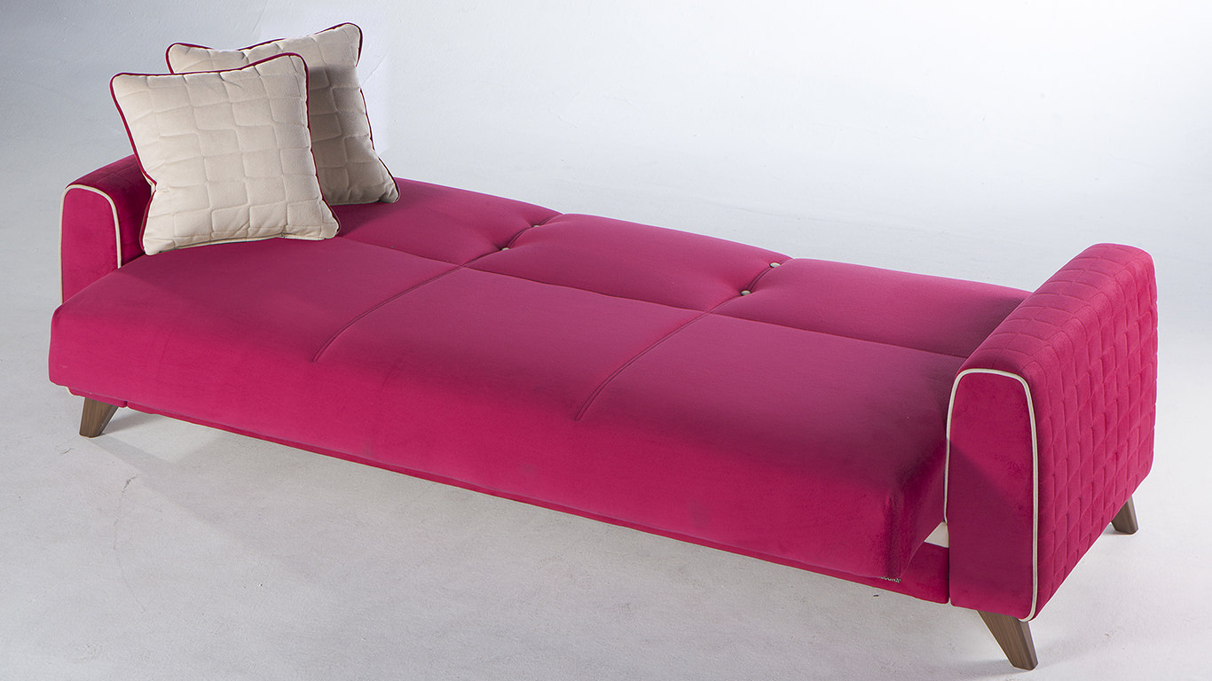 fuschia sofa how to repair small tear in leather pink bed home the honoroak