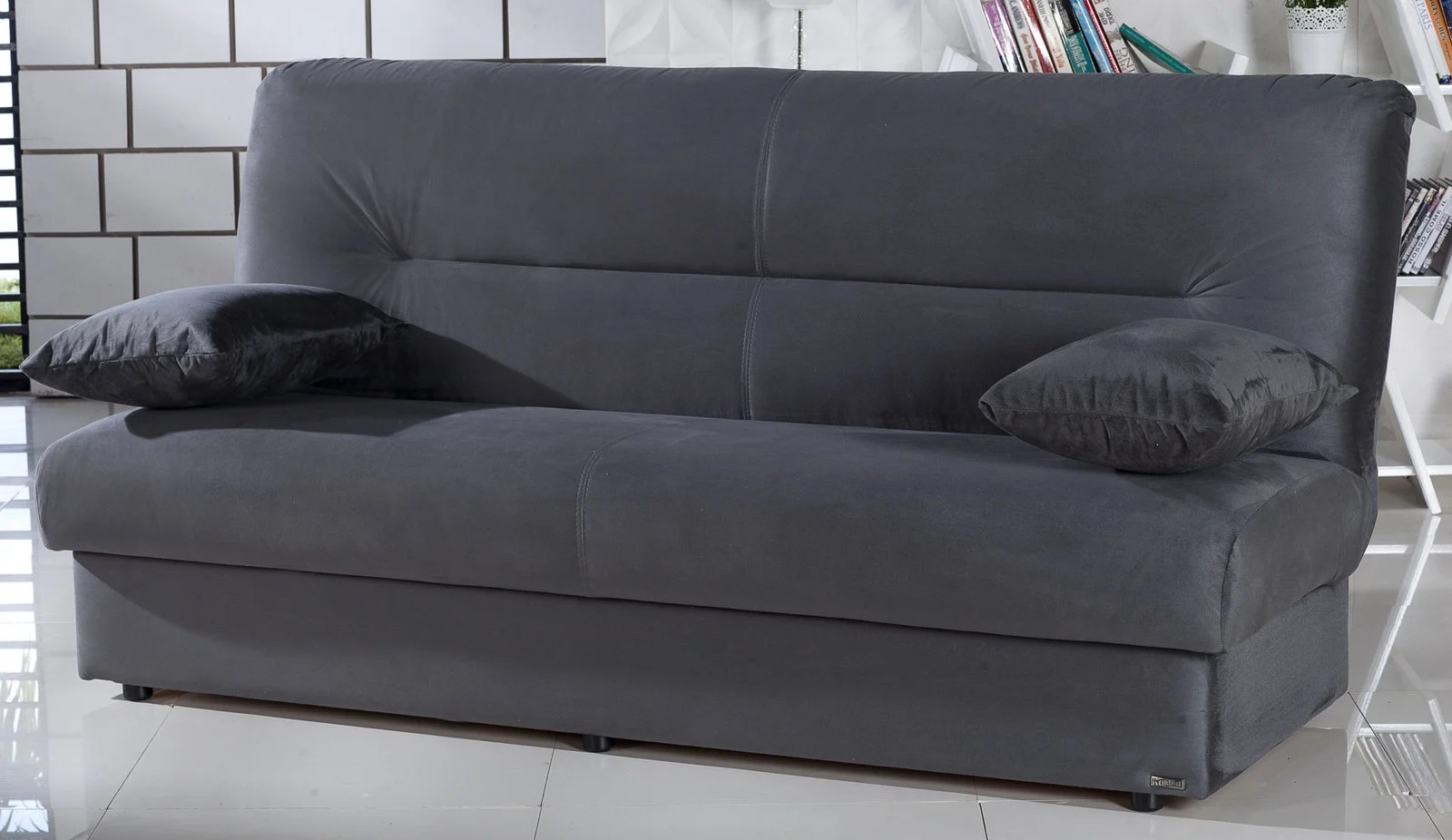 usa made sleeper sofa gray furniture regata rainbow dark convertible bed by istikbal ...