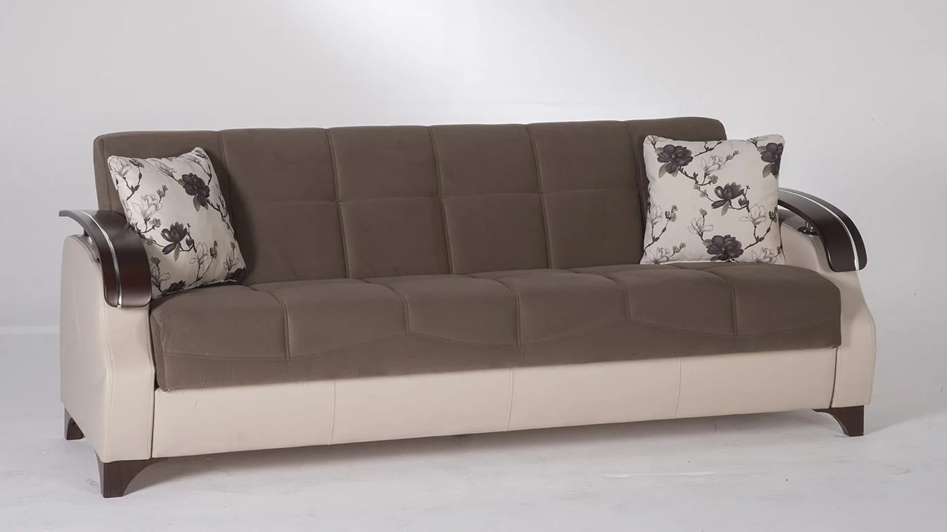convertible sofa beds new york top grain leather sectional sofas trento selen brown bed by istikbal sunset