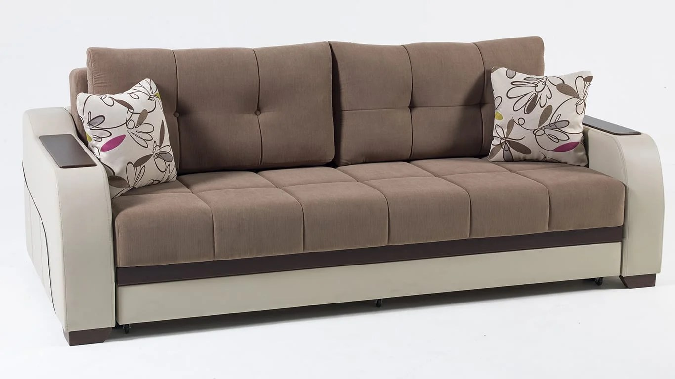sofa bad sectional recliner sofas for small es ultra optimum brown convertible bed by istikbal sunset