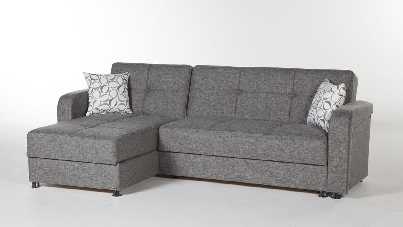 Vision Diego Gray Sectional Sofa By Istikbal Furniture