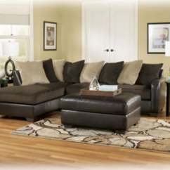 Sealy Living Room Furniture Target Tables Gemini Sectional Sofa Chocolate Signature Design By Ashley ...