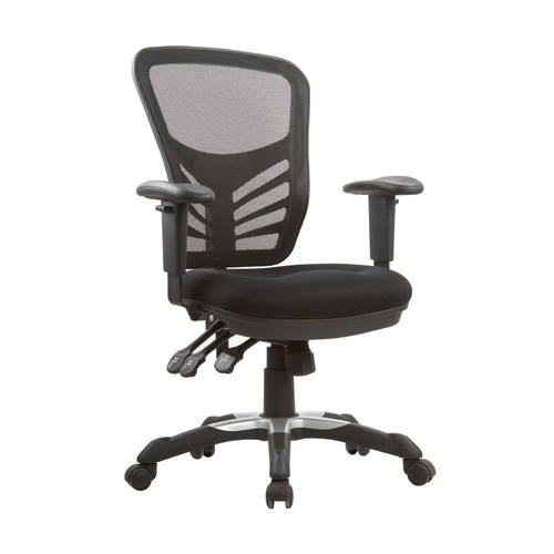 executive mesh office chair stand test rehab measures governor black high back adjustable by