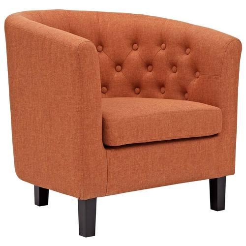 orange upholstered chair red barrel prospect armchair by modern living