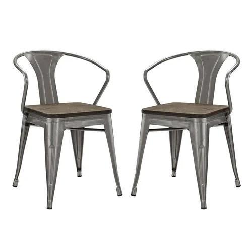 bamboo dining chair boston interiors chairs promenade set of 2 gunmetal by modern living