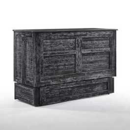 Poppy Blizzard Queen Murphy Cabinet Bed