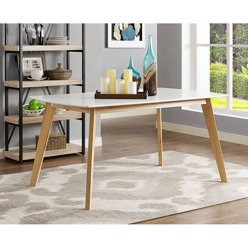 60 inch kitchen table designs layouts retro modern wood dining by walker edison