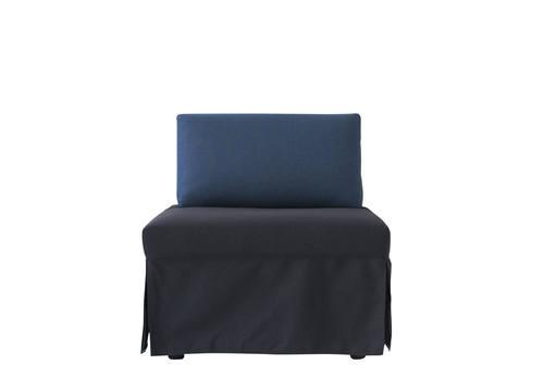 sleeper chair twin replacement slings trona ocean blue by pezzan furniture