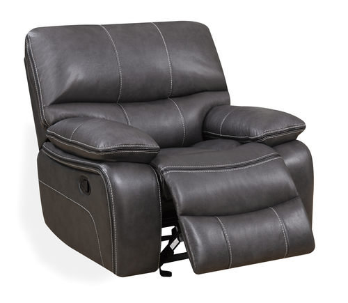 glider recliner chair wood patio chairs u0040 grey black leather reclining by global furniture