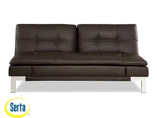 serta bonded leather convertible sofa longest valencia java by lifestyle