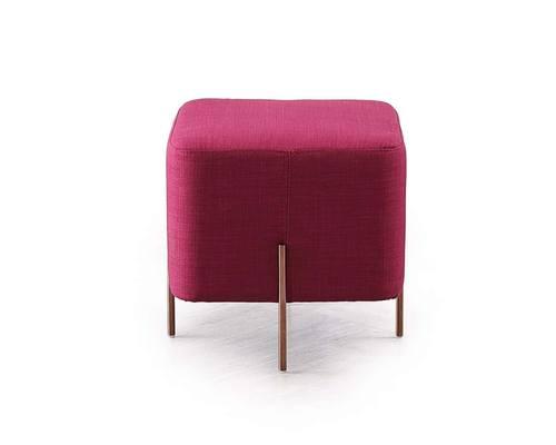 divani casa adler modern pink small ottoman by vig furniture