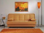 Vegas Light Orange Convertible Sofa Bed by Sunset (Sunset International (Istikbal))