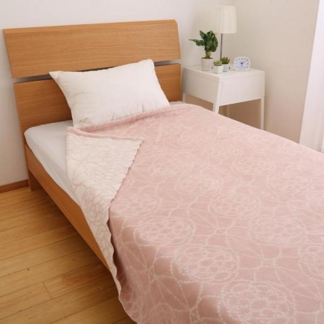 japanese light weight blanket pink