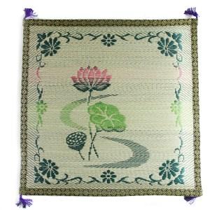 japanese tatami zabuton lotus pattern