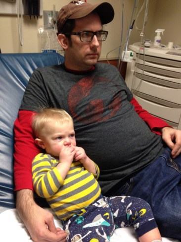 Eddie's first and hopefully only trip to the ER. (He was fine)