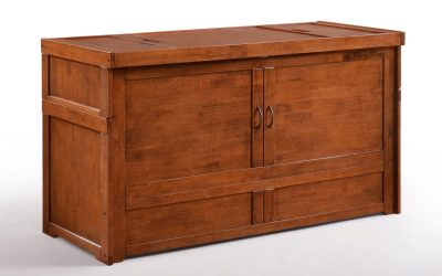 Cube Murphy Cabinet Bed – Queen – Cherry
