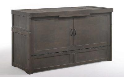 Cube Murphy Cabinet Bed – Queen – Stonewash