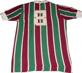 Camisa usada por Gerson no Flu de 73. Coleção de Paulo Gini.