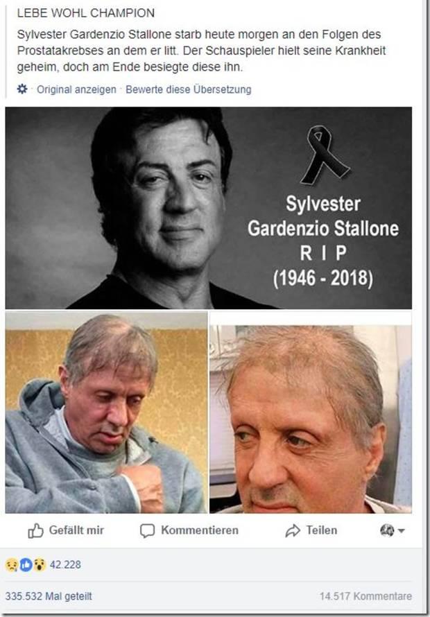 Sylvester Stallon Tot