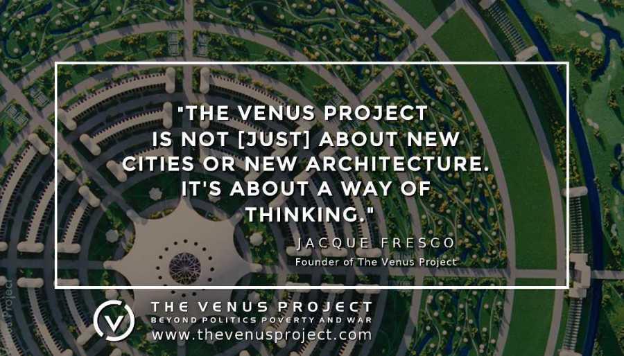 A nova abordagem de Jacque Fresco ao pensamento resulta num modelo de renderização de uma cidade com economia baseada em recursos
