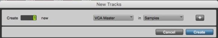 Criar uma faixa VCA master