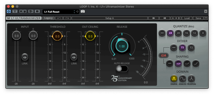 Masterizar para Streaming - L1 Limiter Waves