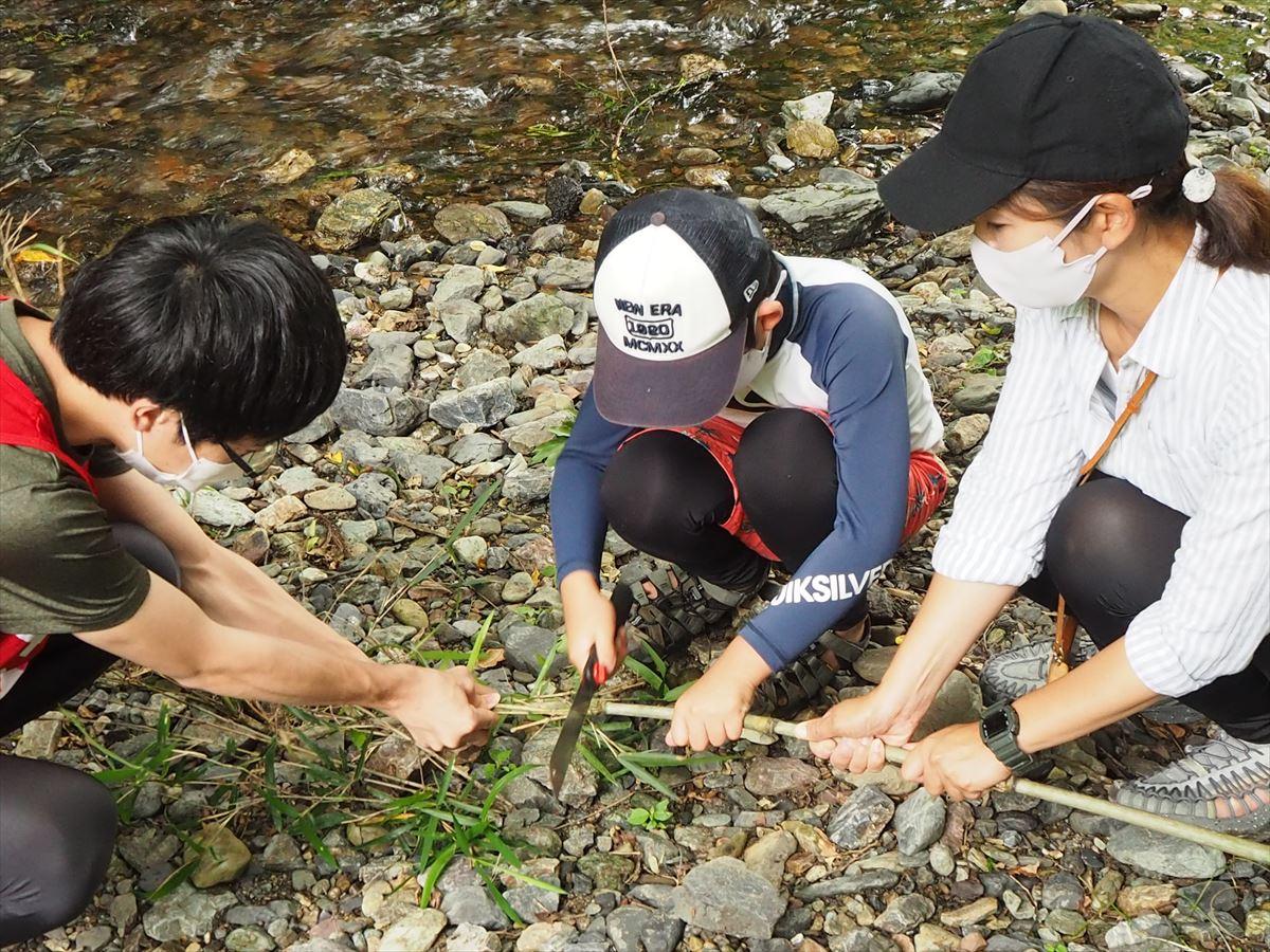 埼玉県飯能市 川釣り体験 四季冒険部