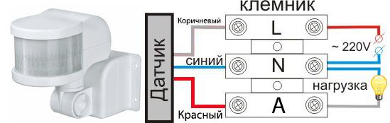 Cara menghubungkan sensor gerak ke bola lampu