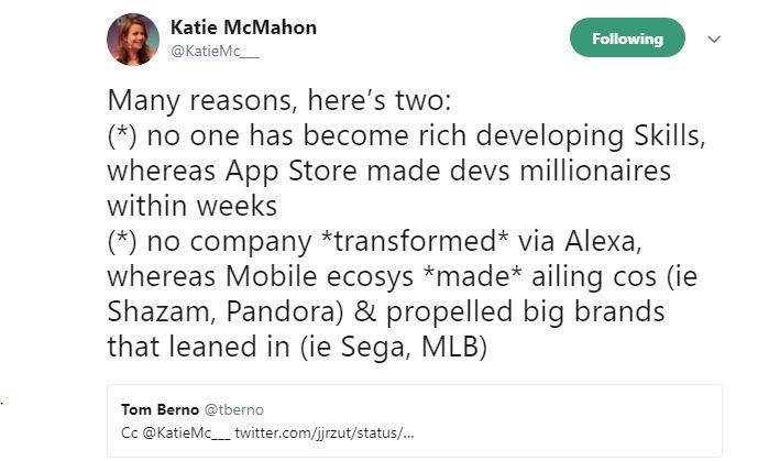 Katie McMahon Tweet