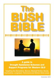 Cover page of The Bush Bible: A guide to Drought Assistance Schemes and Support Programs for Western Queensland