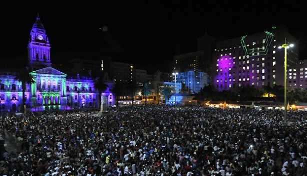 Cape Town's 2014 New Years Eve party ushers in its World Design Capital year. Source: Cape Town Magazine