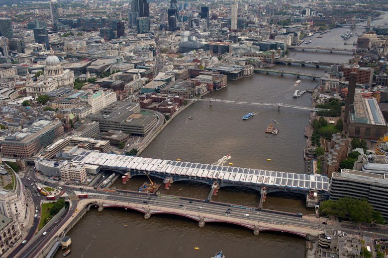The world's largest solar bridge opened with week in London. Source: Photograph: Ralph Hodgson/Network Rail