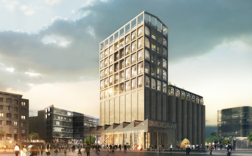 The exterior of Cape Town's Zeitz MOCCA development, as designed by Heatherwick Studio