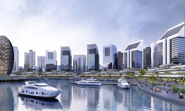 Artist's impression of Eko Atlantic Image: www.wealthresult.com