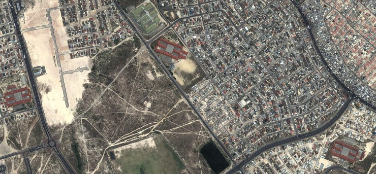 A bird's eye view of part of Khayelitsha, South Africa's second largest township.