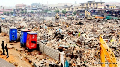 Owonifari Market in Oshodi after demolition