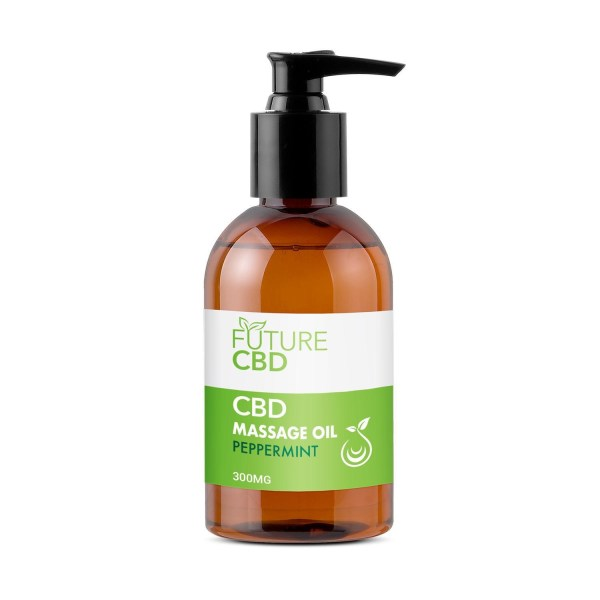 Peppermint CBD Massage Oil (300mg)