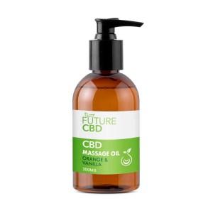 Orange & Vanilla CBD Massage Oil (300mg)