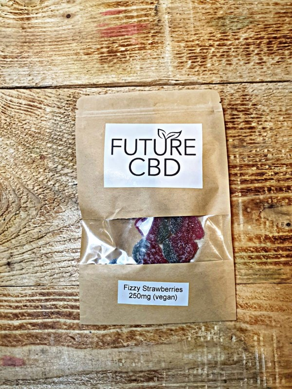 CBD Fizzy Strawberries Vegan (250mg)