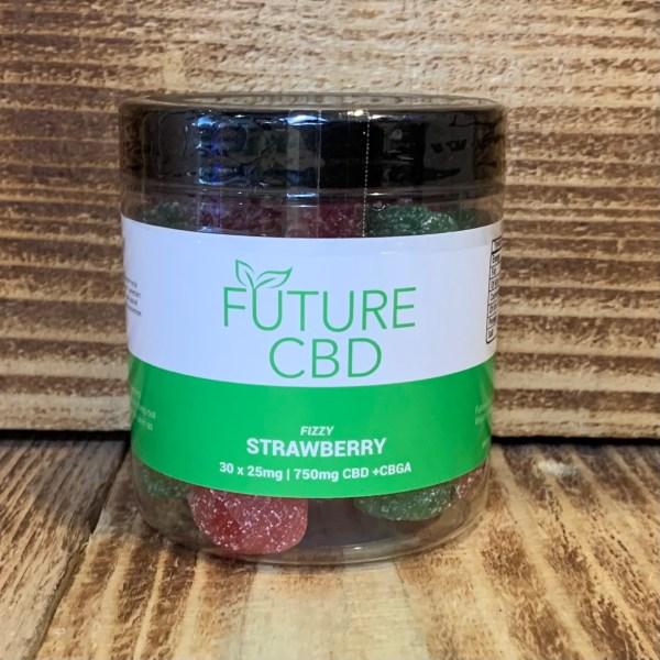 Fizzy Strawberry CBD + CBGA Gummies Vegan (750mg/30pcs)