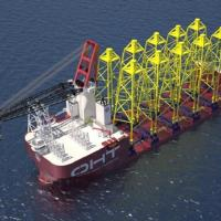 OHT to transport jacket foundations for Moray East Offshore Windfarm