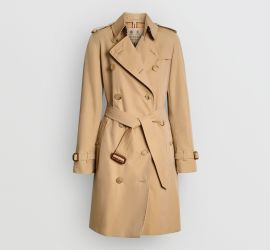 Burberry's iconic camel trenchcoat