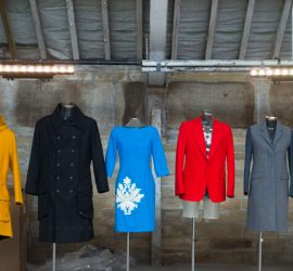 Garments on display from AW Hainsworth