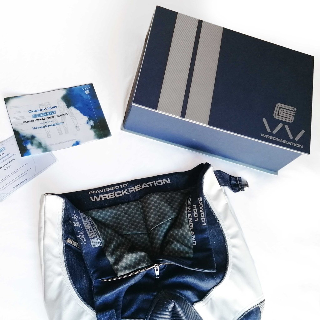 Wreckreation x Shelby jeans inside with certificate and presentation box