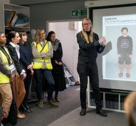 Graeme Raeburn presents to the MIT-REAP visitors