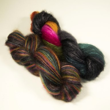 Multi-coloured yarn skein by The Knitting Goddess