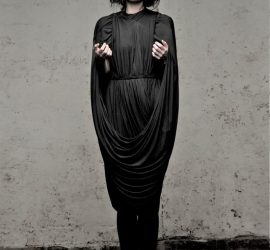 Cunnington & Sanderson's black zero-waste Loop Dress