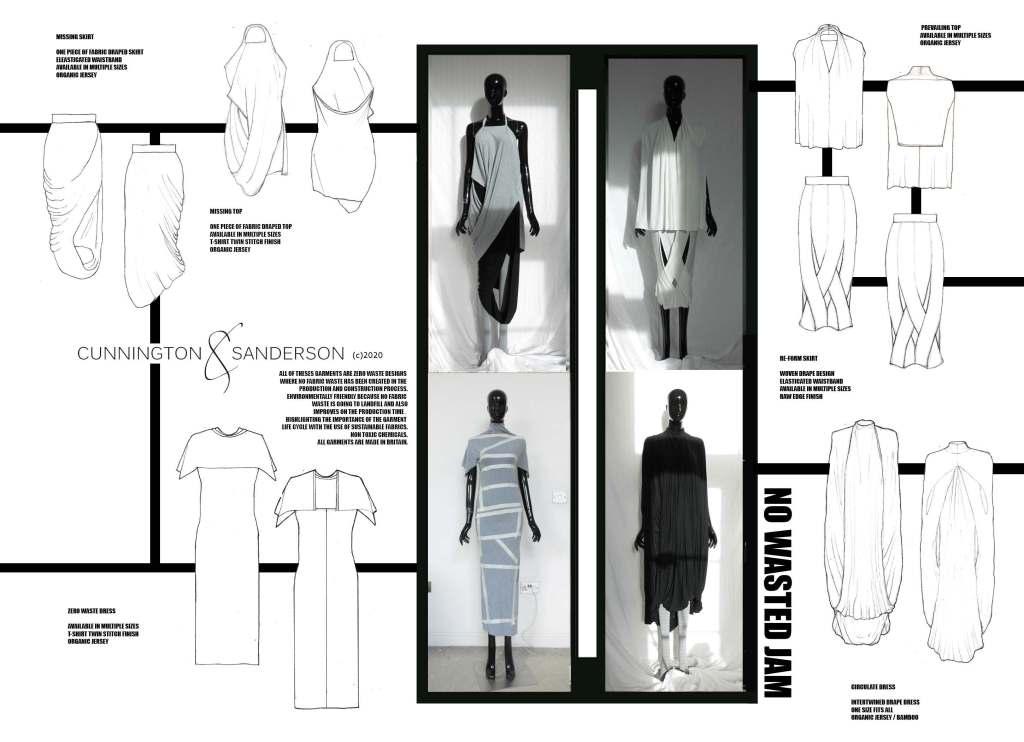 Cunnington & Sanderson zero-waste design illustrations